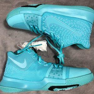 free shipping 24db0 f7940 Nike Shoes - Nike Kyrie 3 Aqua Size 7Y Basketball Shoes